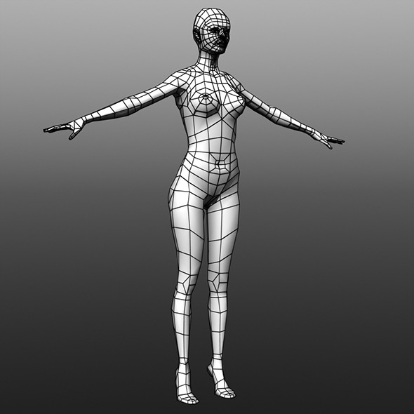 3DOcean Low Poly Female Base Mesh 5184906