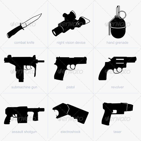 GraphicRiver Hand Weapons 5184920