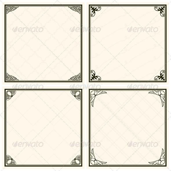 GraphicRiver Decorative Menu Frames 5184935