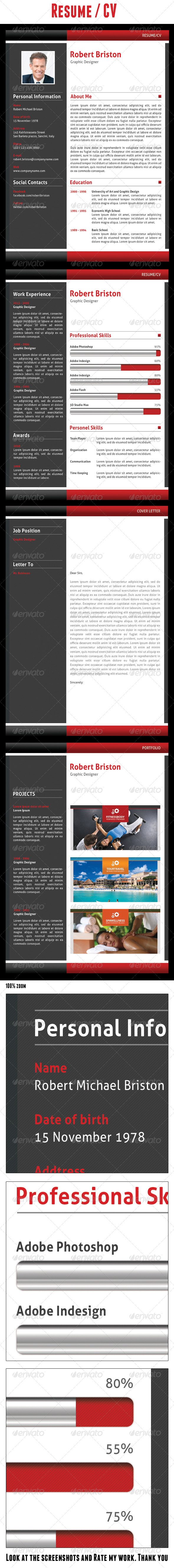 GraphicRiver Resume CV 5117750