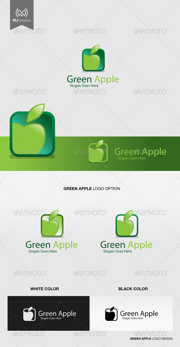 GraphicRiver Green Apple Logo 5185098