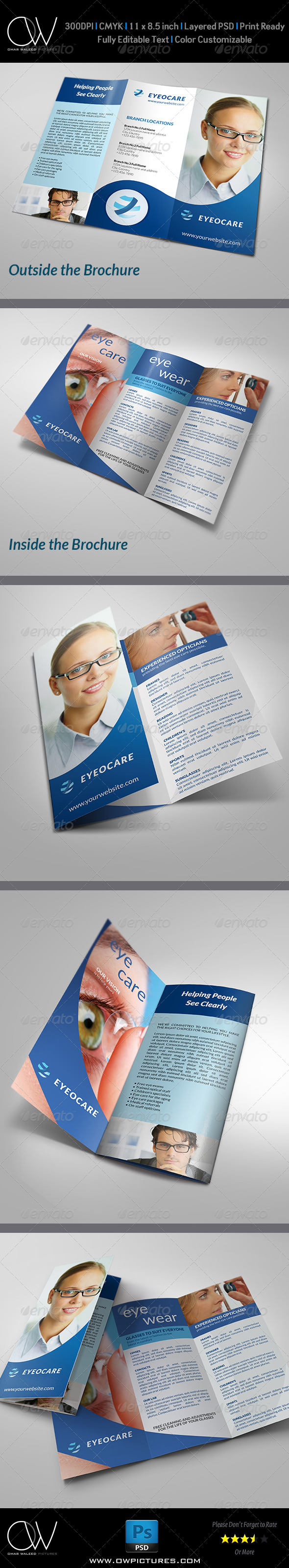 GraphicRiver Optometrist & Optician Tri-Fold Brochure Template 5185759