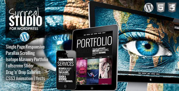 Surreal One Page Parallax WordPress Theme