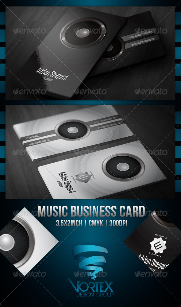 GraphicRiver Music Business Card 5186252