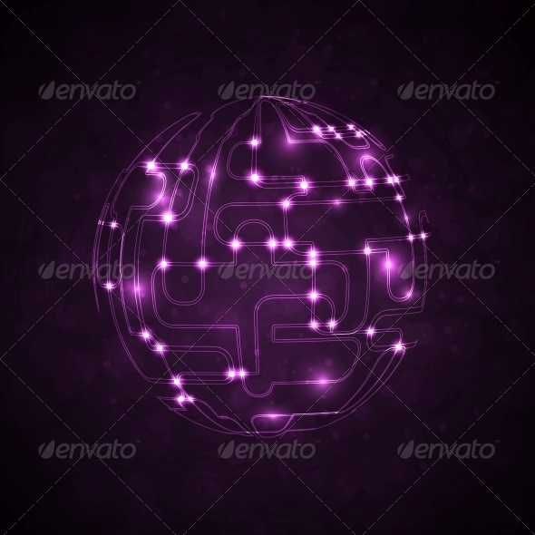GraphicRiver Abstract Vector Background Circuit Board 5186302