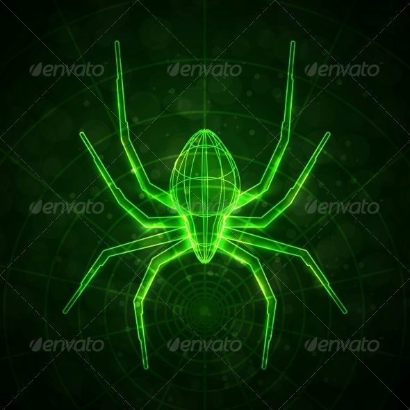 GraphicRiver Abstract Spider Technology Energy Vector Illustration 5186314