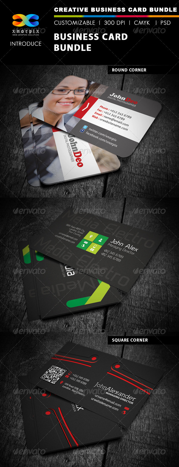 GraphicRiver Business Card Bundle 3 in 1-Vol 11 5186708