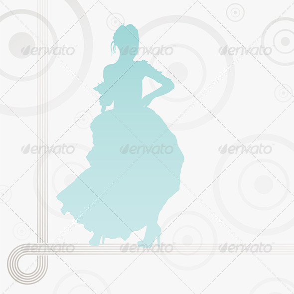 GraphicRiver Young Bride Holding Flowers 5186722