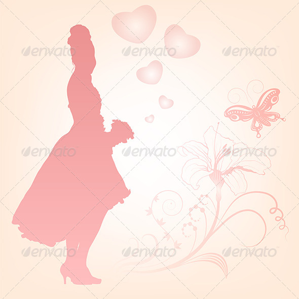 GraphicRiver Young Bride Holding Flowers 5186723