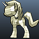 Low Poly Cute Little Pony Base Mesh