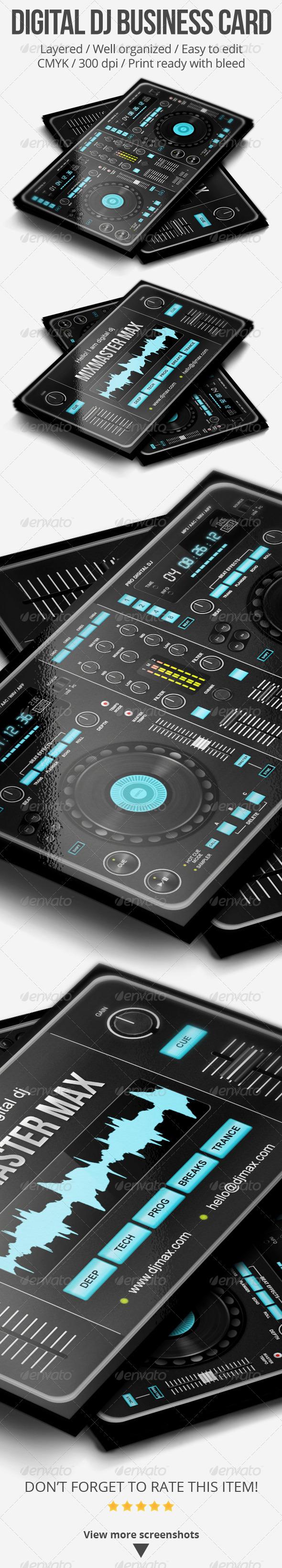 GraphicRiver Digital DJ Business Card 5187245