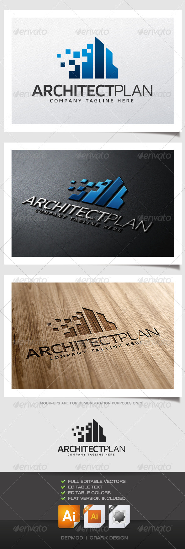 GraphicRiver Architect Plan Logo 5187472