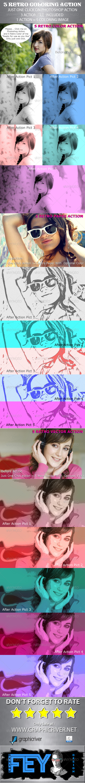 GraphicRiver 3 Retro Coloring Action 5187782