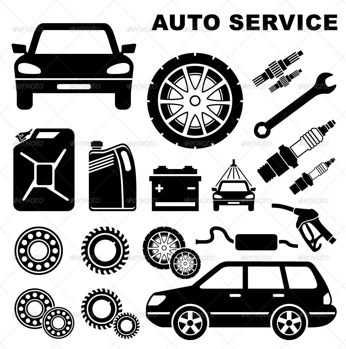 car repair service icon graphicriver. Black Bedroom Furniture Sets. Home Design Ideas