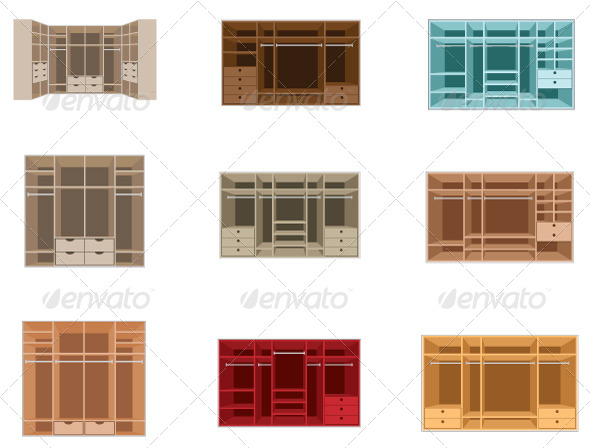 GraphicRiver Wardrobe Room Set 5188682