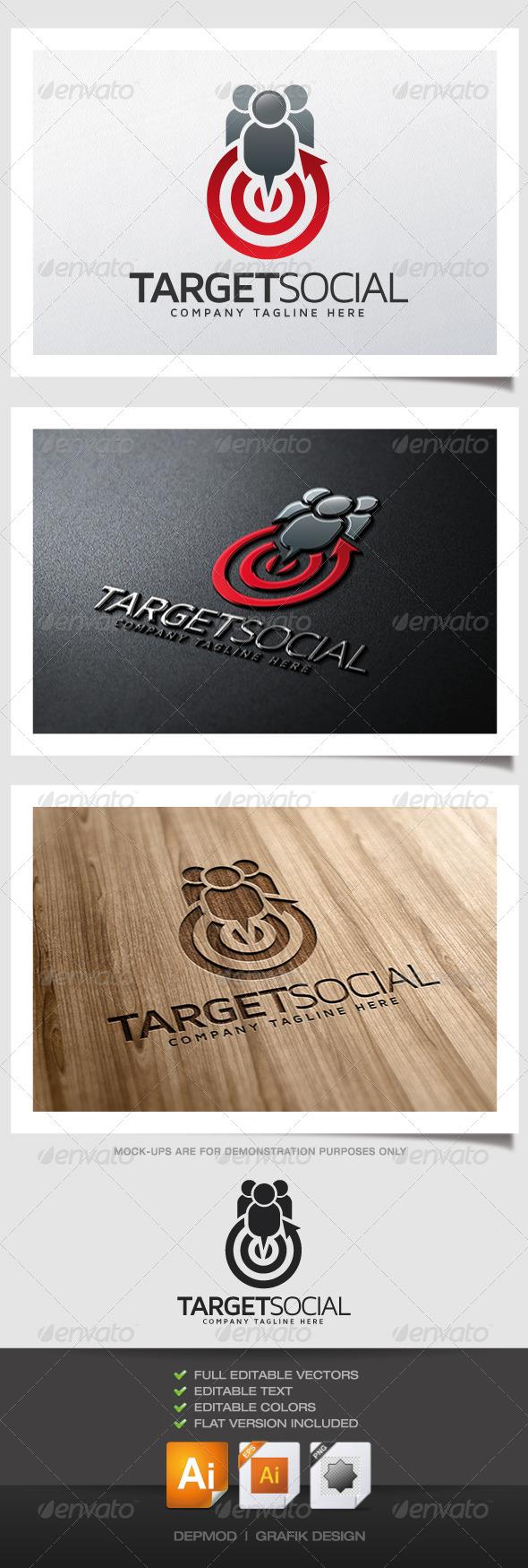 GraphicRiver Target Social Logo 5188856