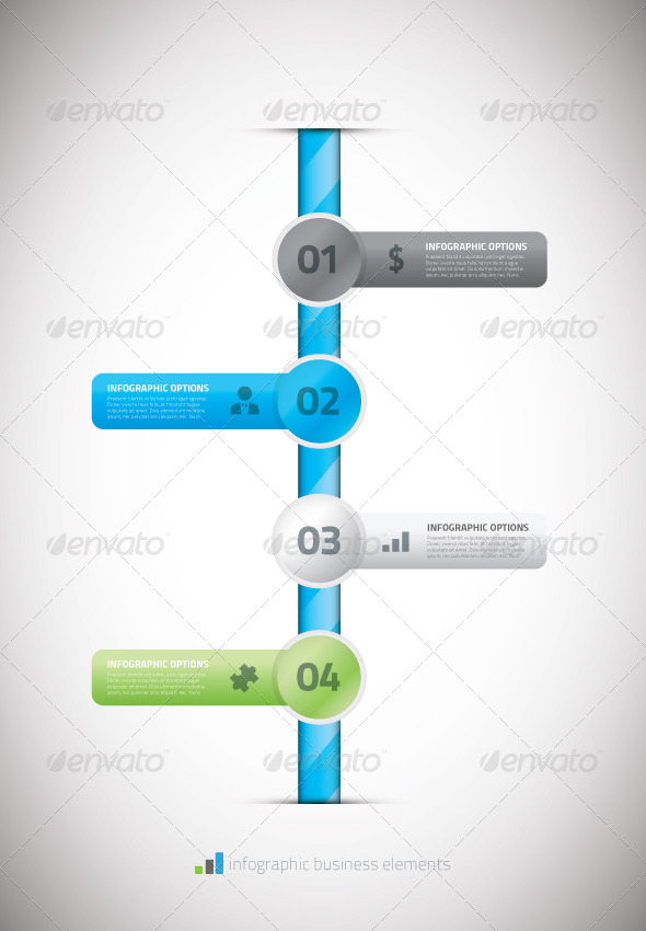 Infographic business timeline template vector illu