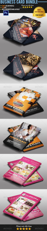 GraphicRiver Restaurant Business Card Bundle 5189087