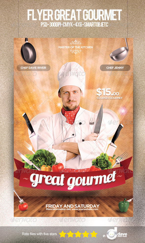 Flyer Great Gourmet - Restaurant Flyers