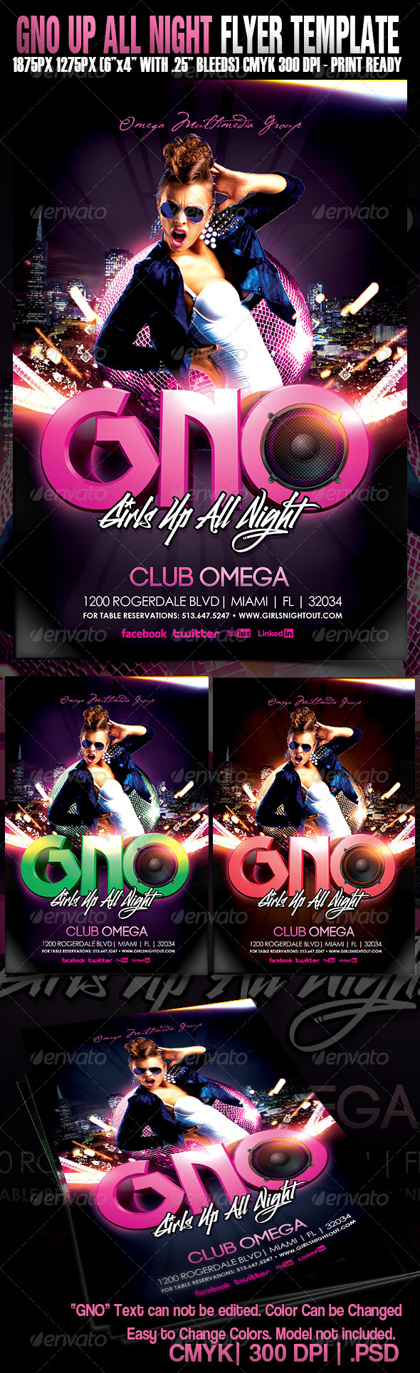 GraphicRiver GNO Up All Night 5189182