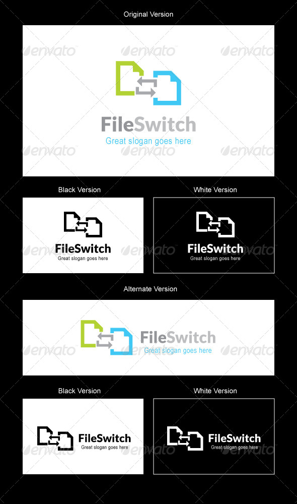 GraphicRiver File Switch Logo Design 5189234