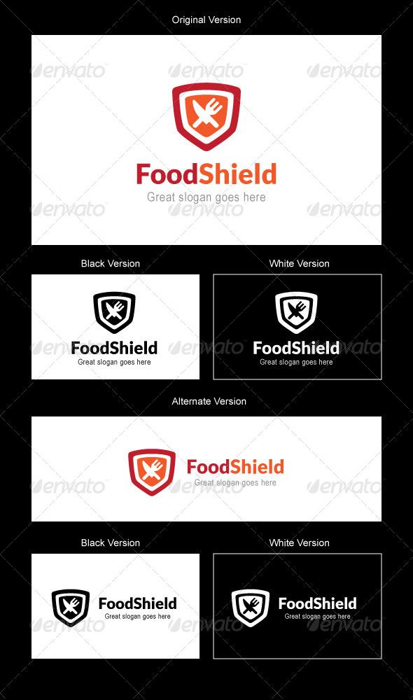 GraphicRiver Food Shield Logo Design 5189240