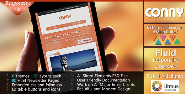 ThemeForest CONNY Responsive Email Template 5189313