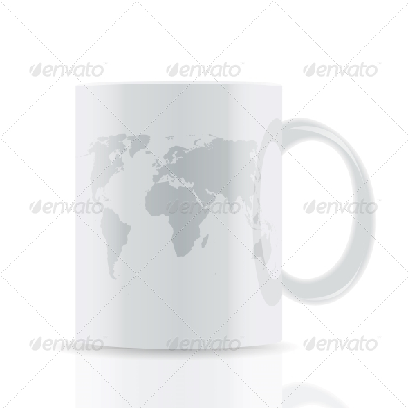 GraphicRiver White Cup with Map 5189379