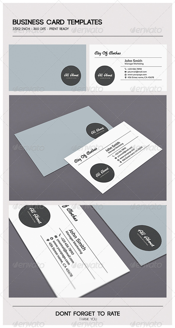 GraphicRiver Minimal Business Card 5189518