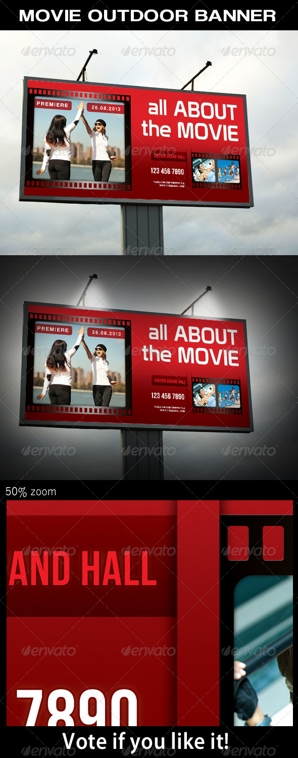 Movie Outdoor Banner - Signage Print Templates