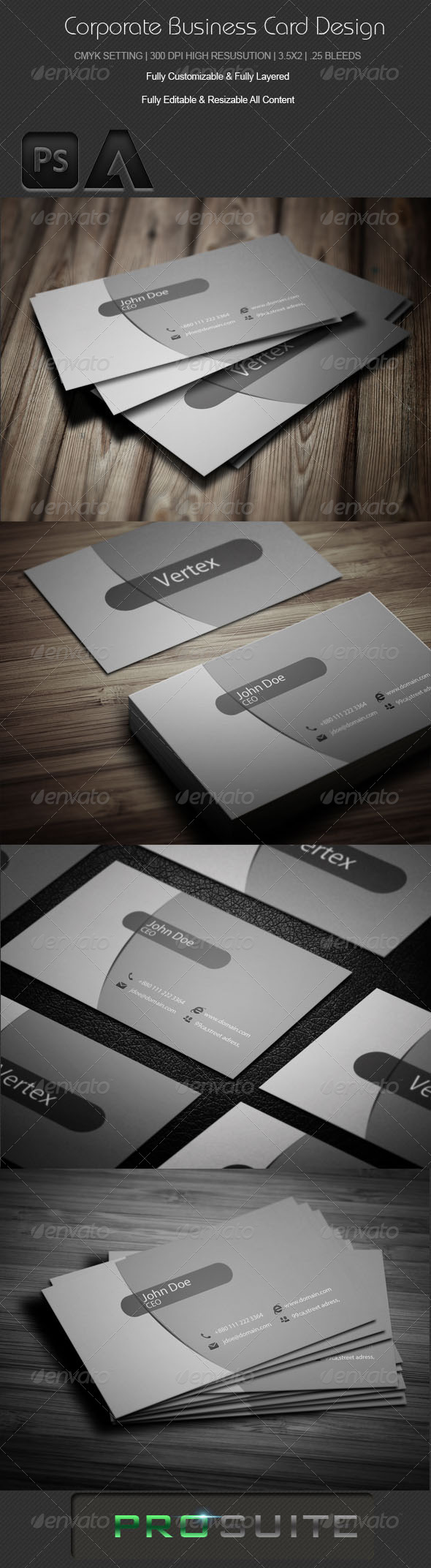 GraphicRiver Corporate Business Card Design 3 4937675