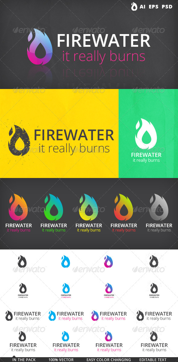 GraphicRiver Fire Water Logo 5189637