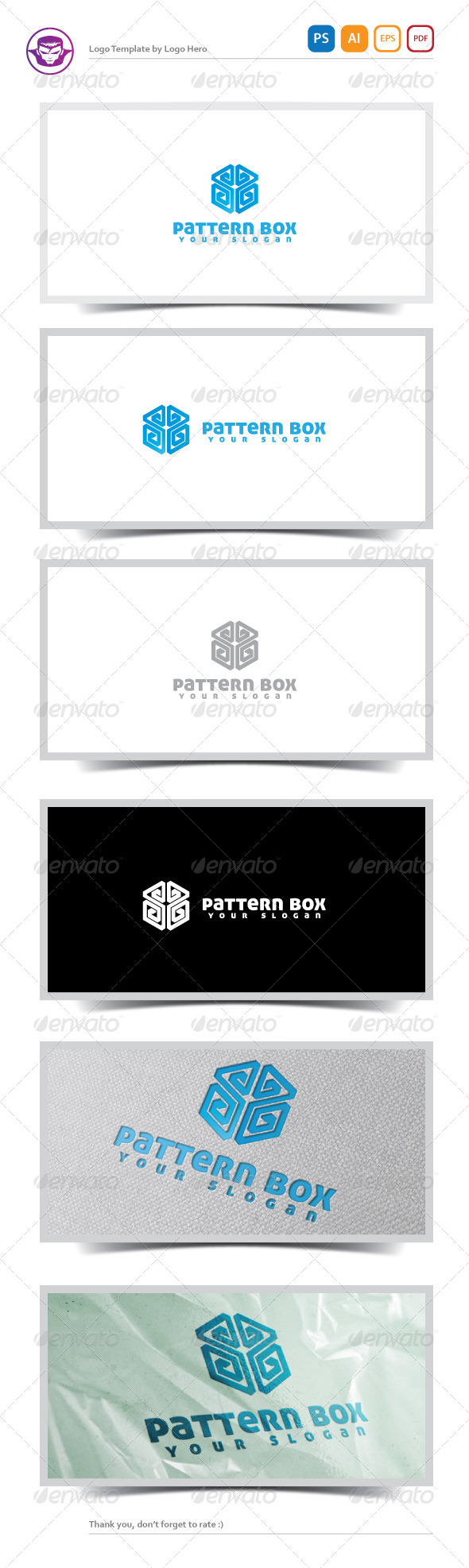 Pattern Box Logo Template