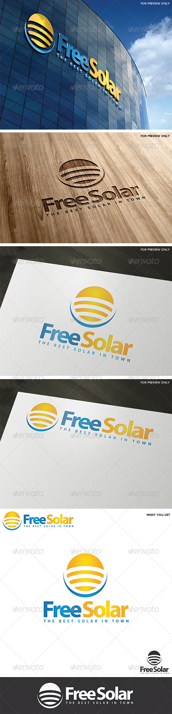 Solar Logo Template v1 - Abstract Logo Templates