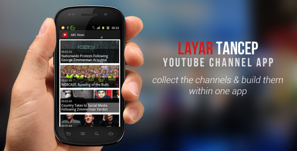 CodeCanyon Layar Tancep Youtube Channel App 5190062