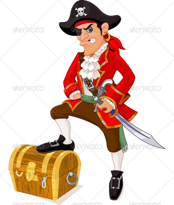 GraphicRiver Cartoon Pirate 5190314