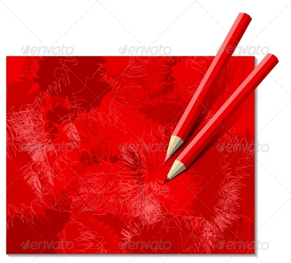 GraphicRiver Two Red Pencils 5190375