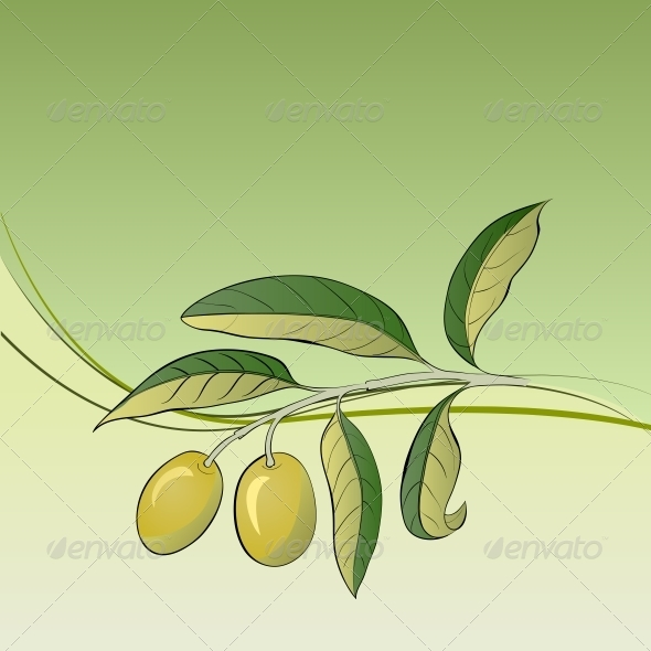 GraphicRiver Two Olives on Branch 5190389