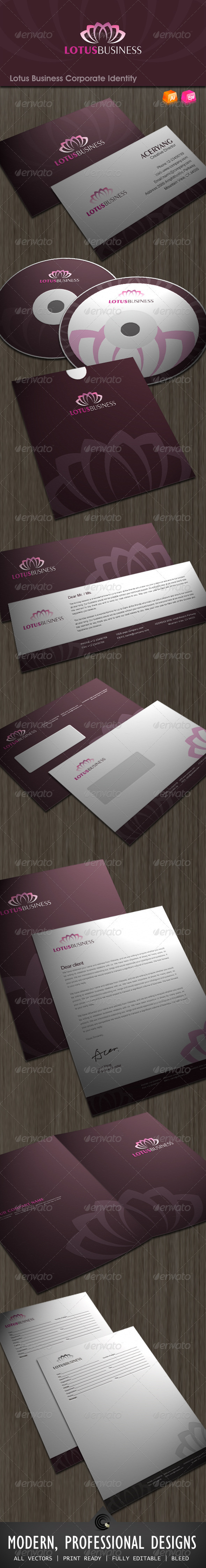GraphicRiver Lotus Business Corporate Identity 533611