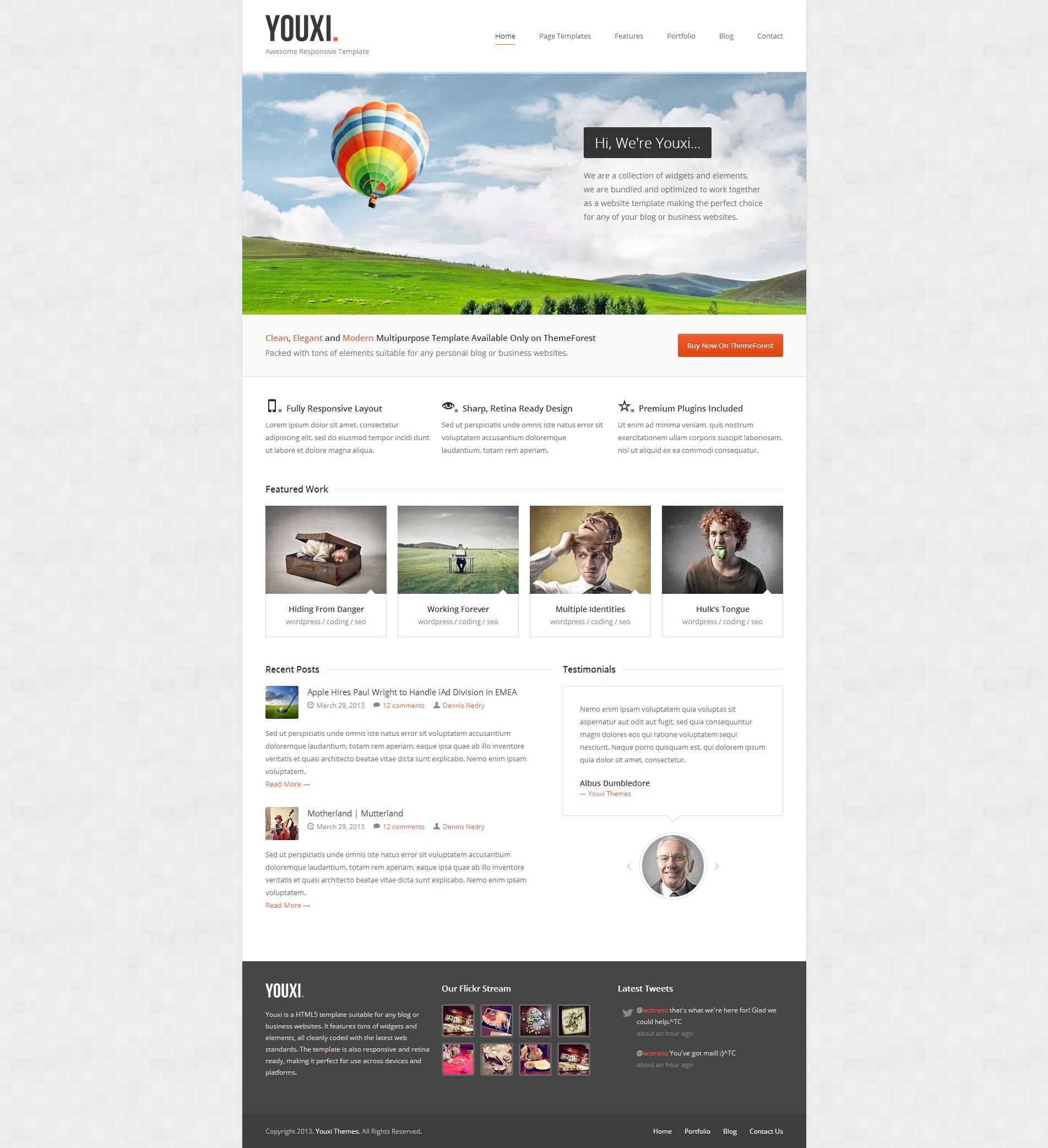 Youxi - Multipurpose Responsive HTML5 Template