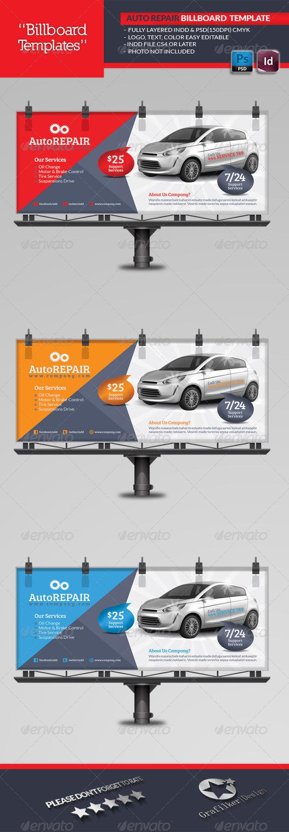 GraphicRiver Automobile Repair Billboard Template 5190434