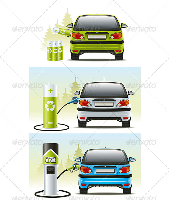 GraphicRiver Electric Car 5190897