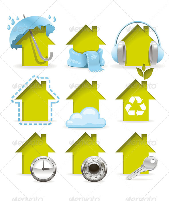 GraphicRiver Housing Icons 5191179