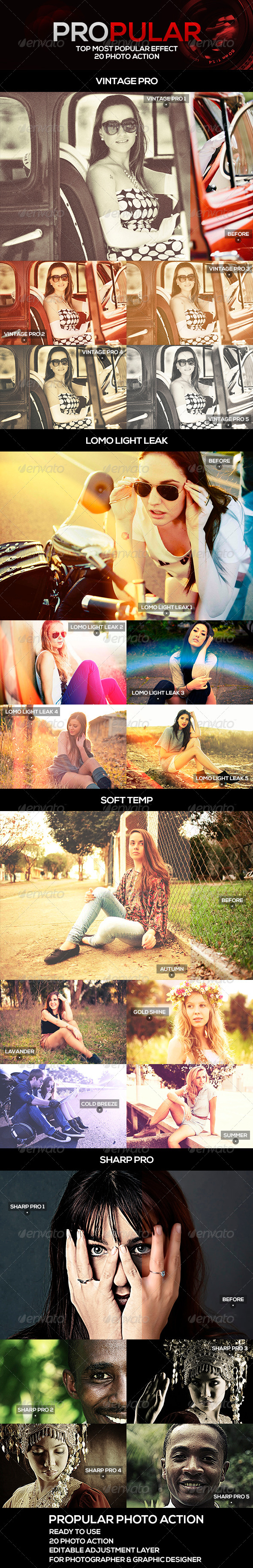 GraphicRiver PROpular 20 Photo Actions 5191304