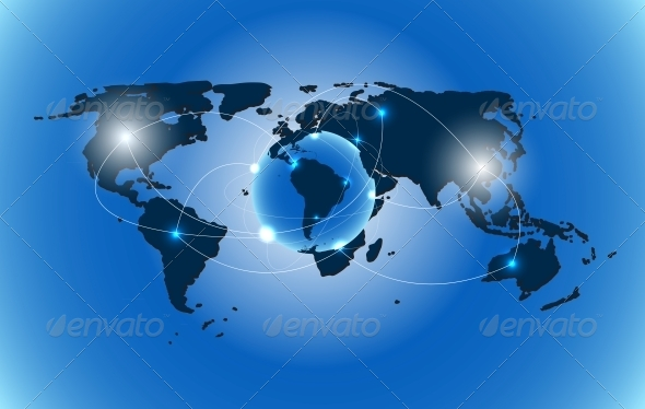 GraphicRiver World Map Background Vector Illustration 5191308