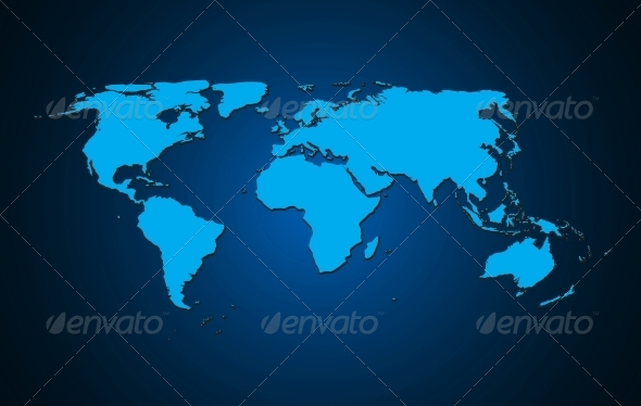 GraphicRiver World Map Background Vector Illustration 5191327