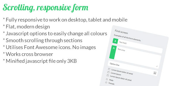 CodeCanyon Scrolling Responsive Form 5191580