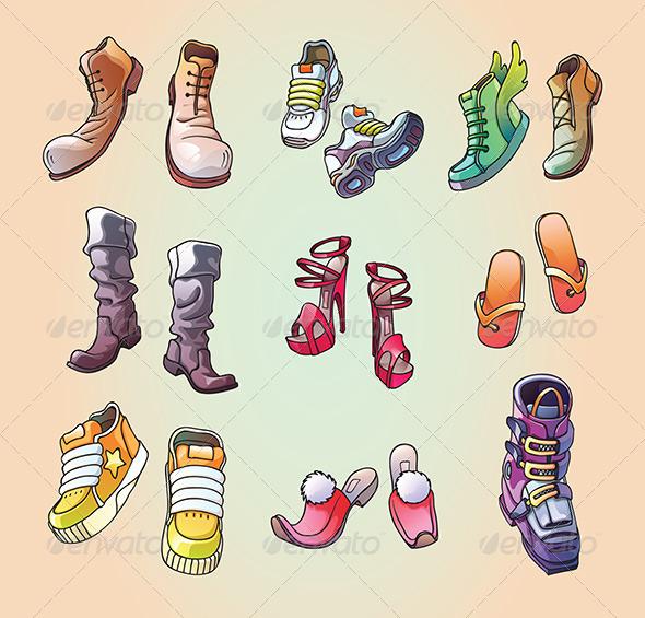 GraphicRiver Some Original Vector Shoes 5191661