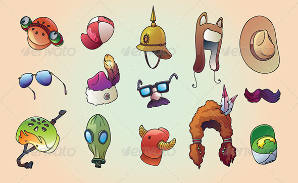 GraphicRiver Original Headwear Set 5191672