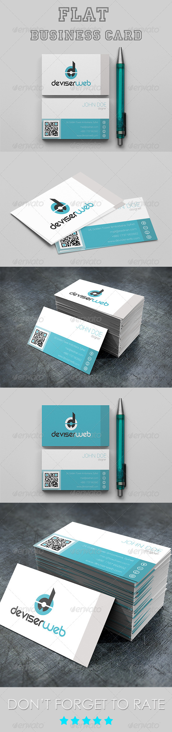 GraphicRiver Flat Business Card 5191951